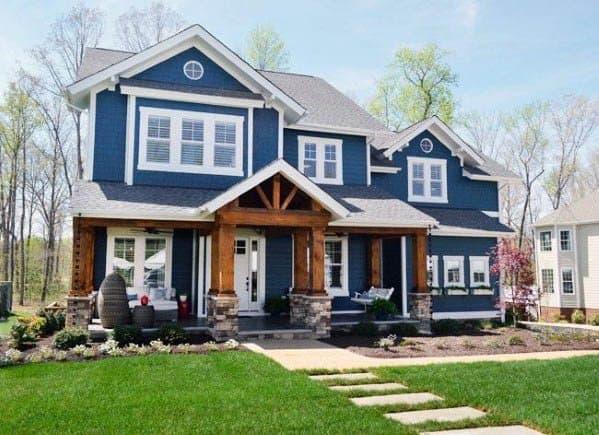 Blue Designs House Siding