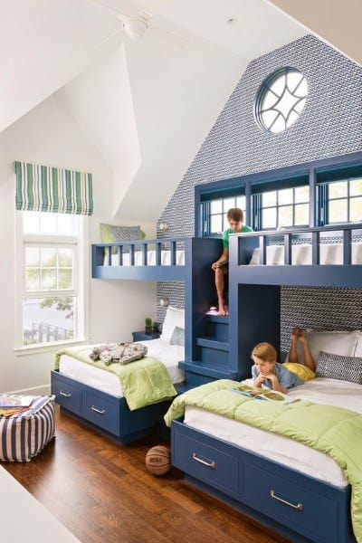 Blue Four Bunk Bed Ideas