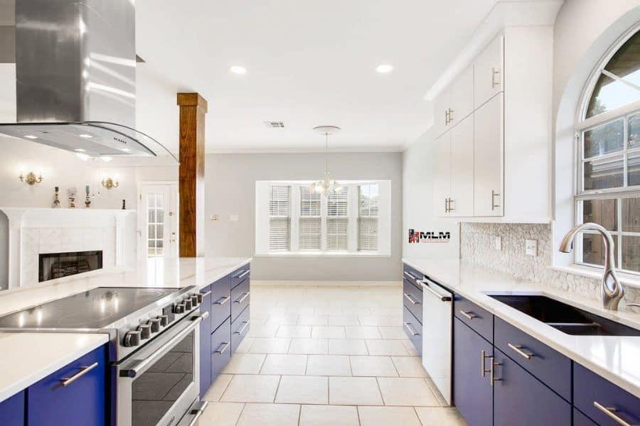 blue galley kitchen ideas incorporatedmlm