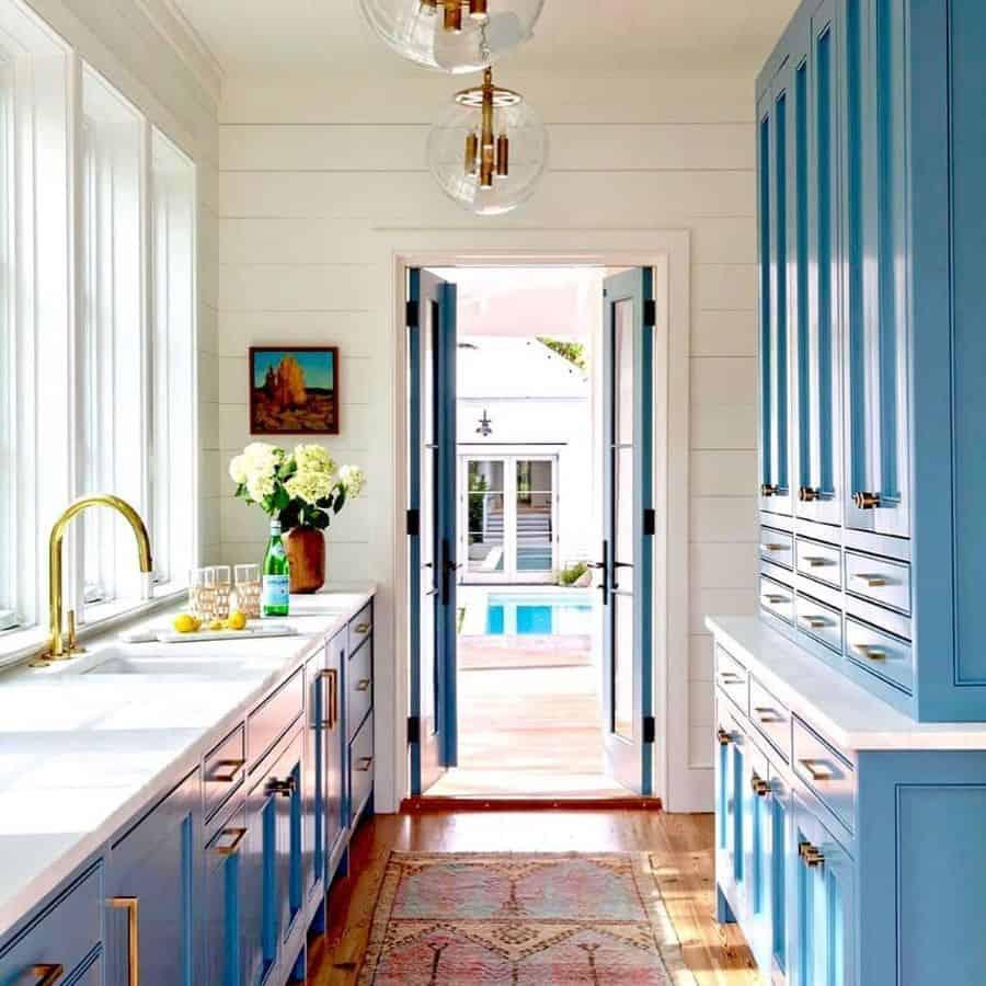 blue galley kitchen ideas luxury.ideas2020