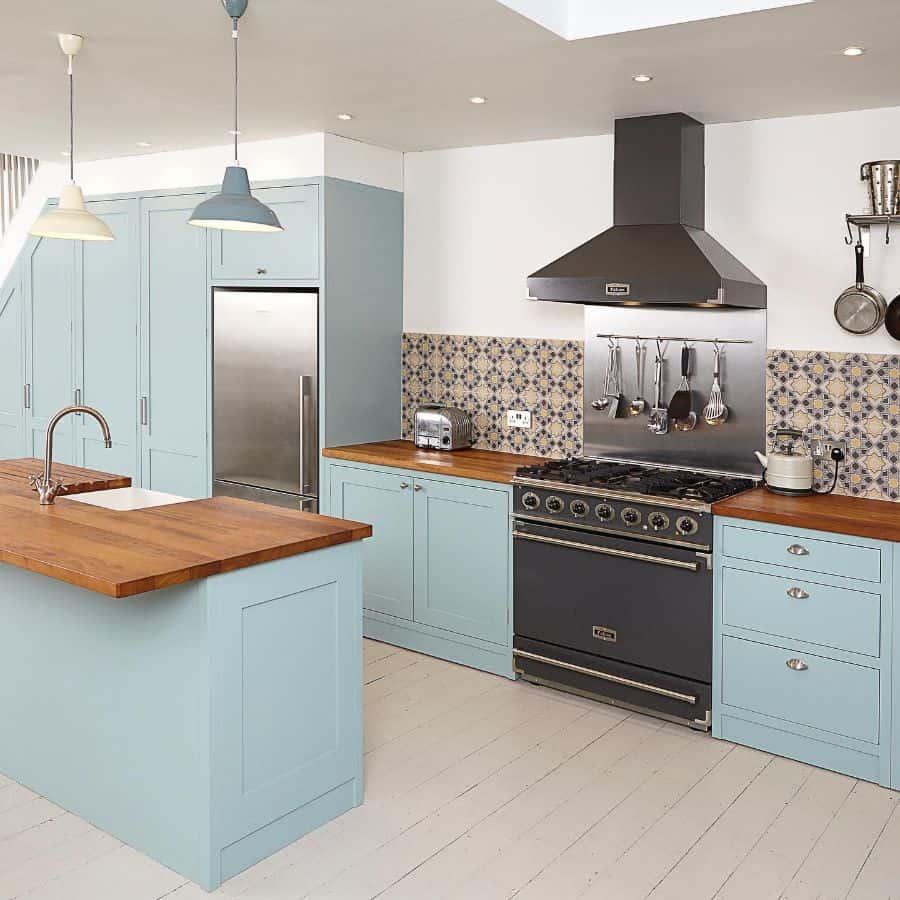 blue galley kitchen ideas wr.carpentry