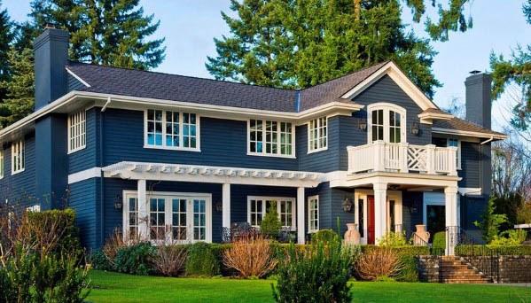 Blue Home Design Ideas House Paint
