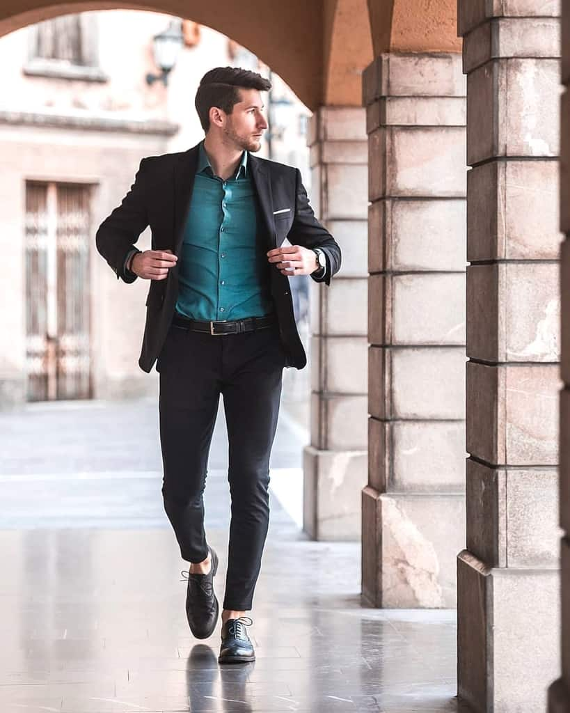 Blue Inner Cool Suit Mens Wear