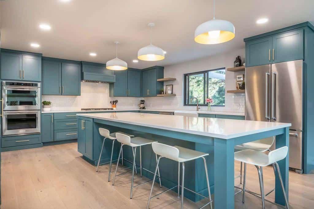 blue kitchen color ideas bykrueger