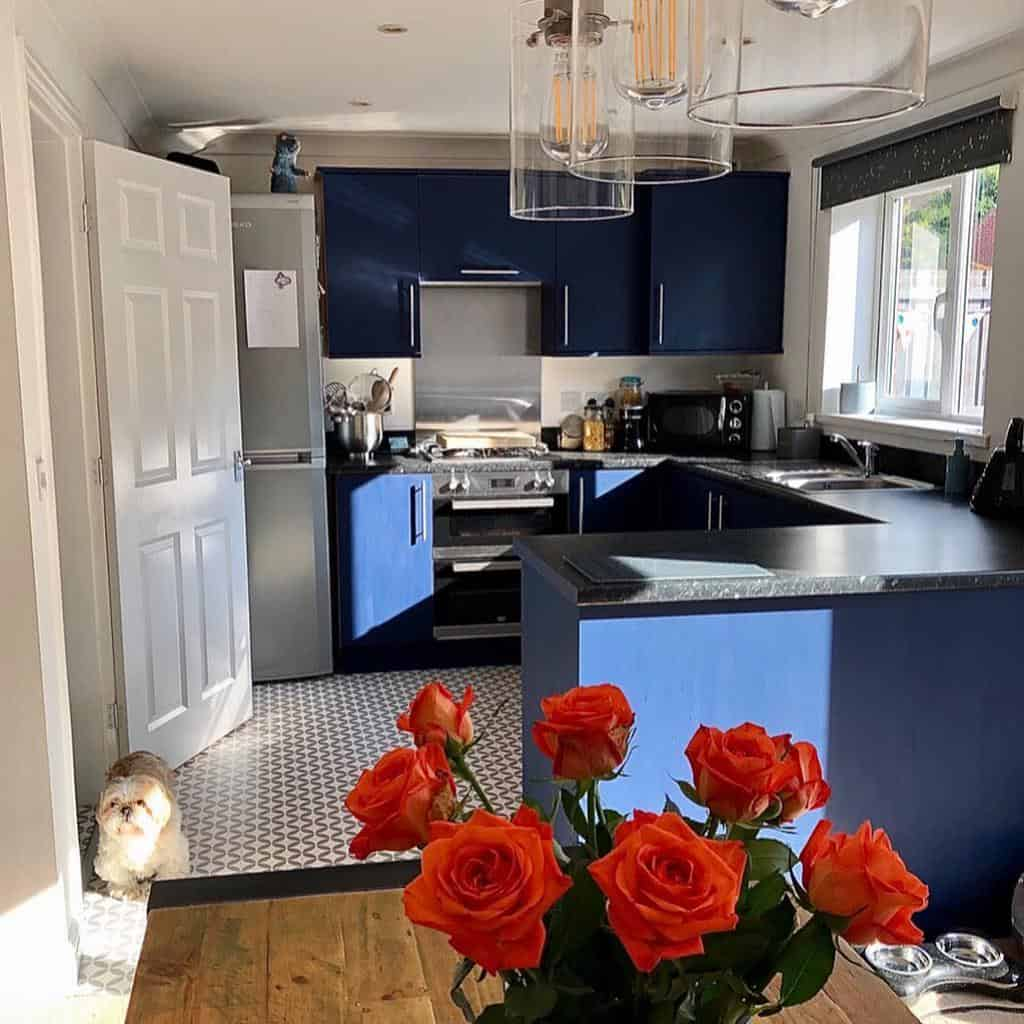 blue kitchen color ideas myhomeismyhappy
