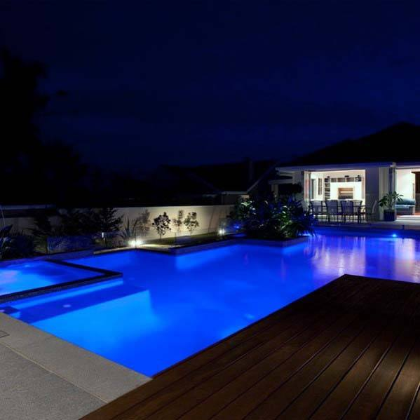 Blue Led House Pool Lighting Ideas