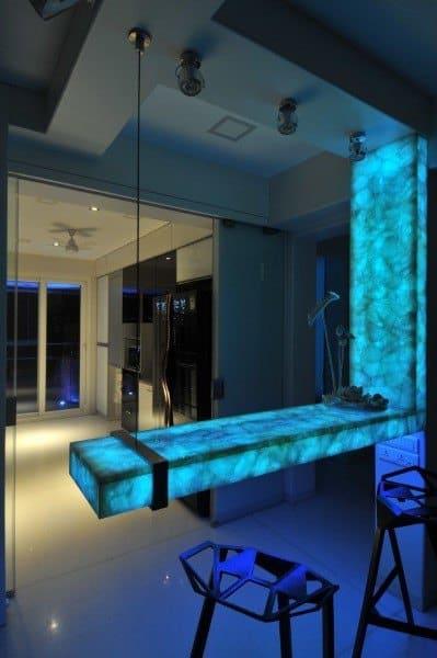 Blue Led Lighted Bar Top Ideas