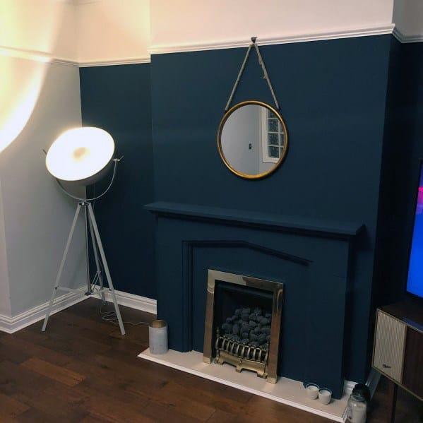 Blue Luxury Painted Fireplace