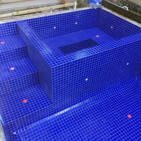 Blue Moasic Swimming Pool Tile Ideas