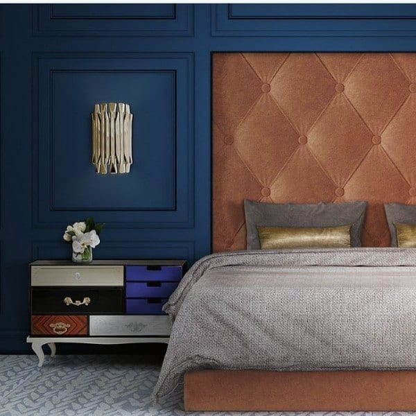 royal and deep blue bedroom