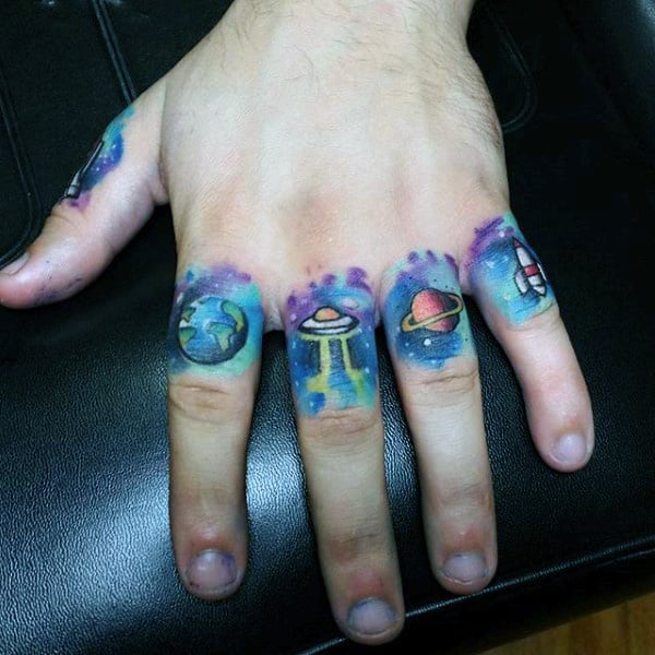 100 UFO Tattoo Designs For Men - Alien Abduction Ink