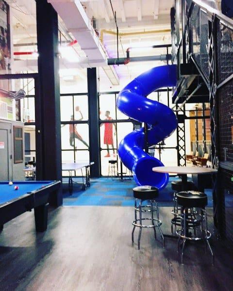 Blue Spiral Office Indoor Slide