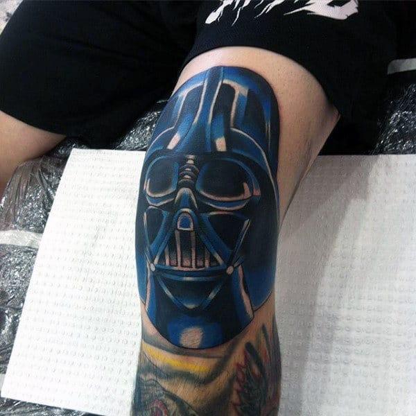 Blue Star Wars Darth Vader Tattoo