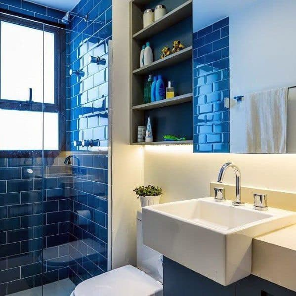 Blue Subway Tile Bathroom Inspiration