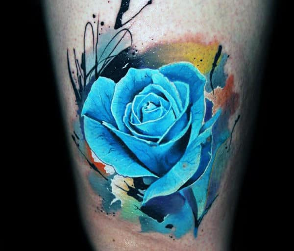 969b515fcca59 90 Realistic Rose Tattoo Designs For Men - Floral Ink Ideas