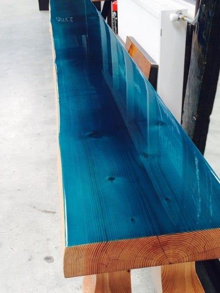 Blue Wood Bar Top Epoxy Ideas