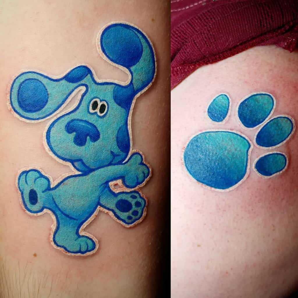 bluesclues-paw-print-mother-daughter-tattoo-damn_fine_tattoos