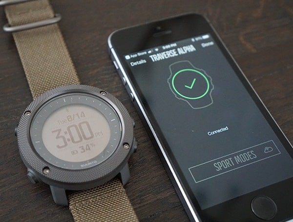 Bluetooth Connection Suunto Traverse Alpha Watch With Iphone App Paired