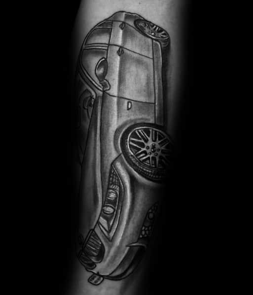 Bmw Sedan Guys Shaded Tattoo Ideas
