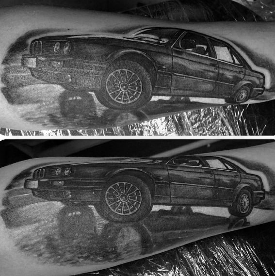 Bmw Themed Tattoo Ideas For Men