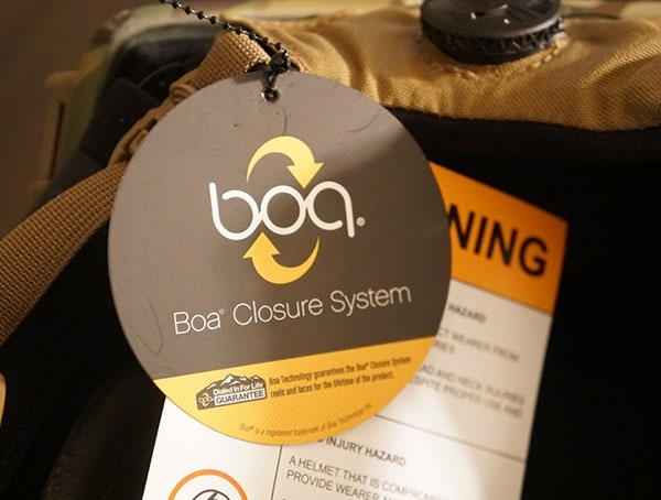 Boa Closure System Team Wendy Exfil Ballistic Sl Helmet