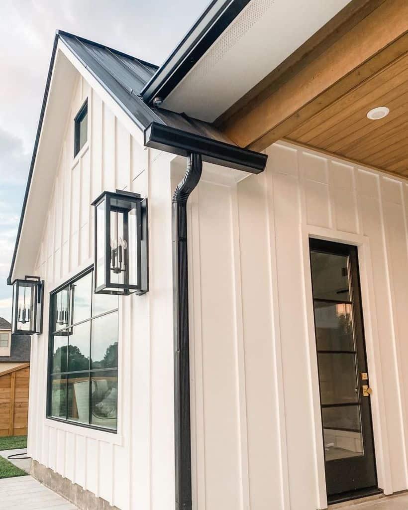 The Top 40 Best Modern Farmhouse Exterior Ideas - Exterior ... on Modern Siding  id=87169