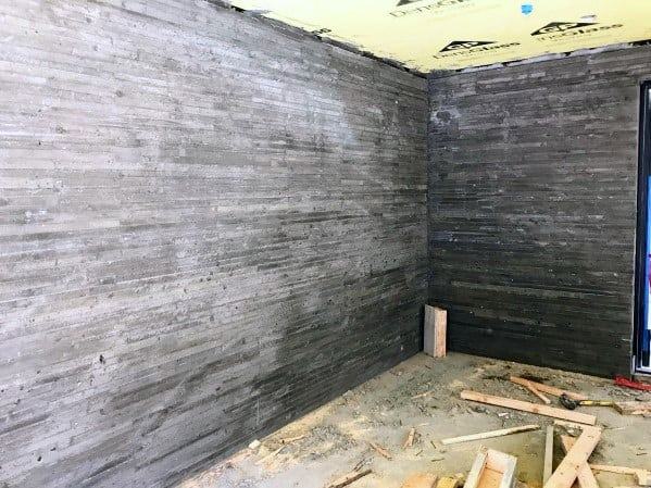 Board Formed Concrete Garage Wall Ideas