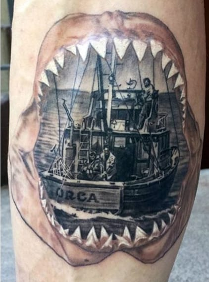 Boat Fishing Tattoo Designs For Men