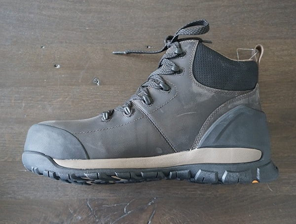Bogs Foundation Mid Leather Composite Toe Boots Side View