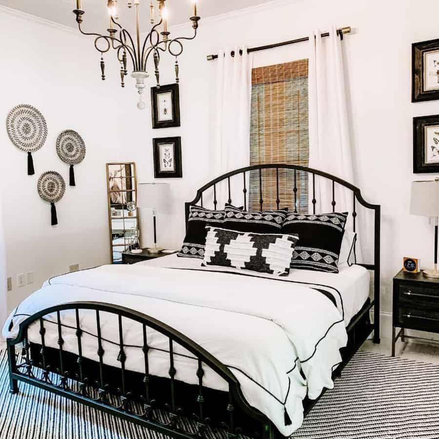 boho black and white bedroom ideas candlercreeksidecottage