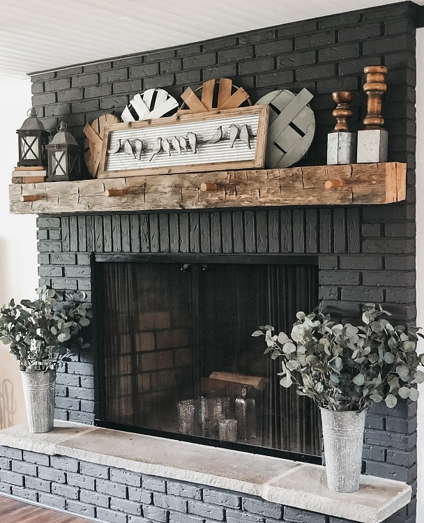 Boho Mantle Brick Fireplace Surround Decor And Danes