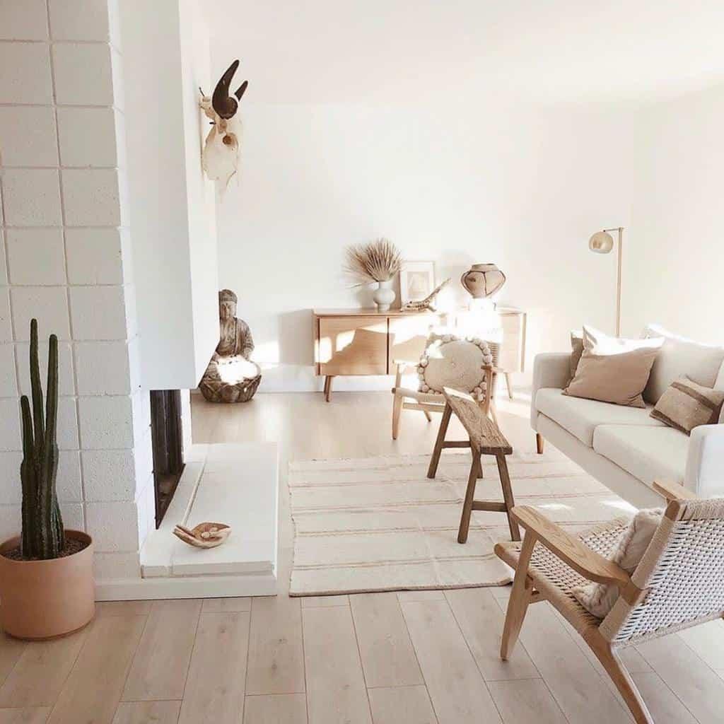 Boho Minimalist Living Room Leharvest