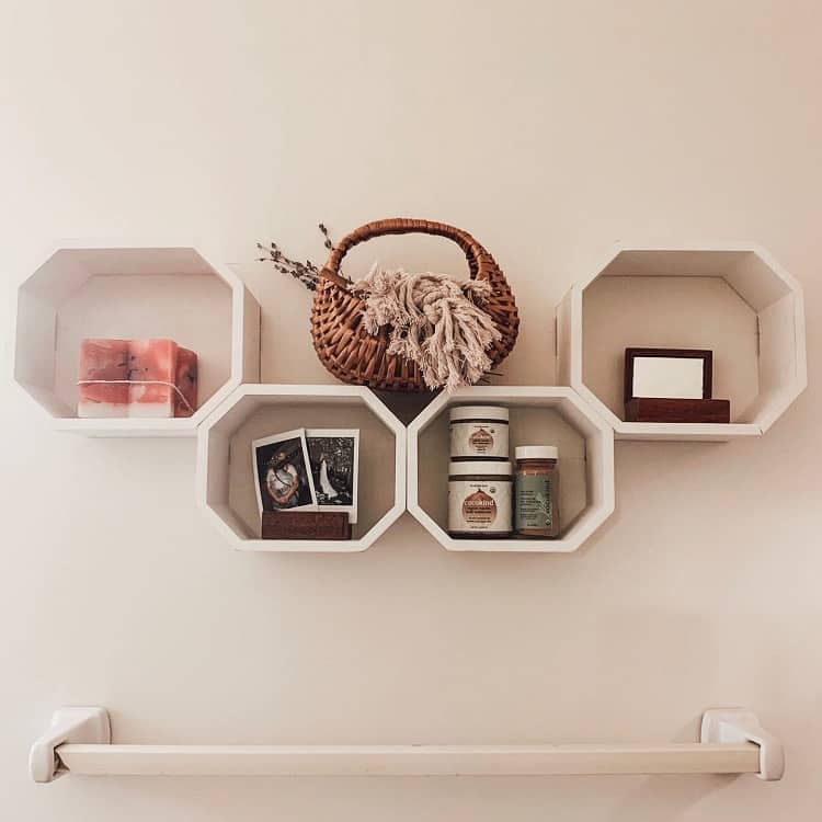 Boho Style Bathroom Floating Shelf Wovenandwicker