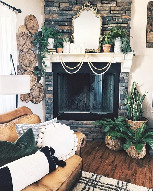 Boho Style Mantel Decor Ideas Farmhouse Charm