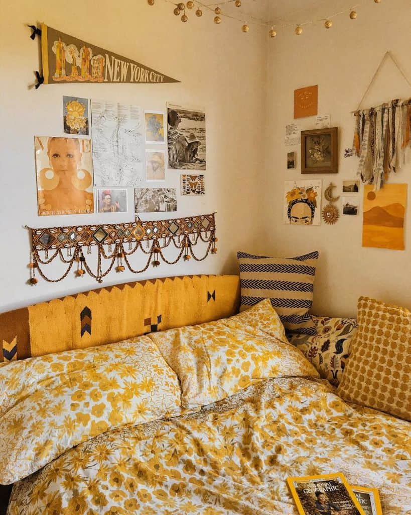 boho yellow bedroom ideas 2 florencemayvintage