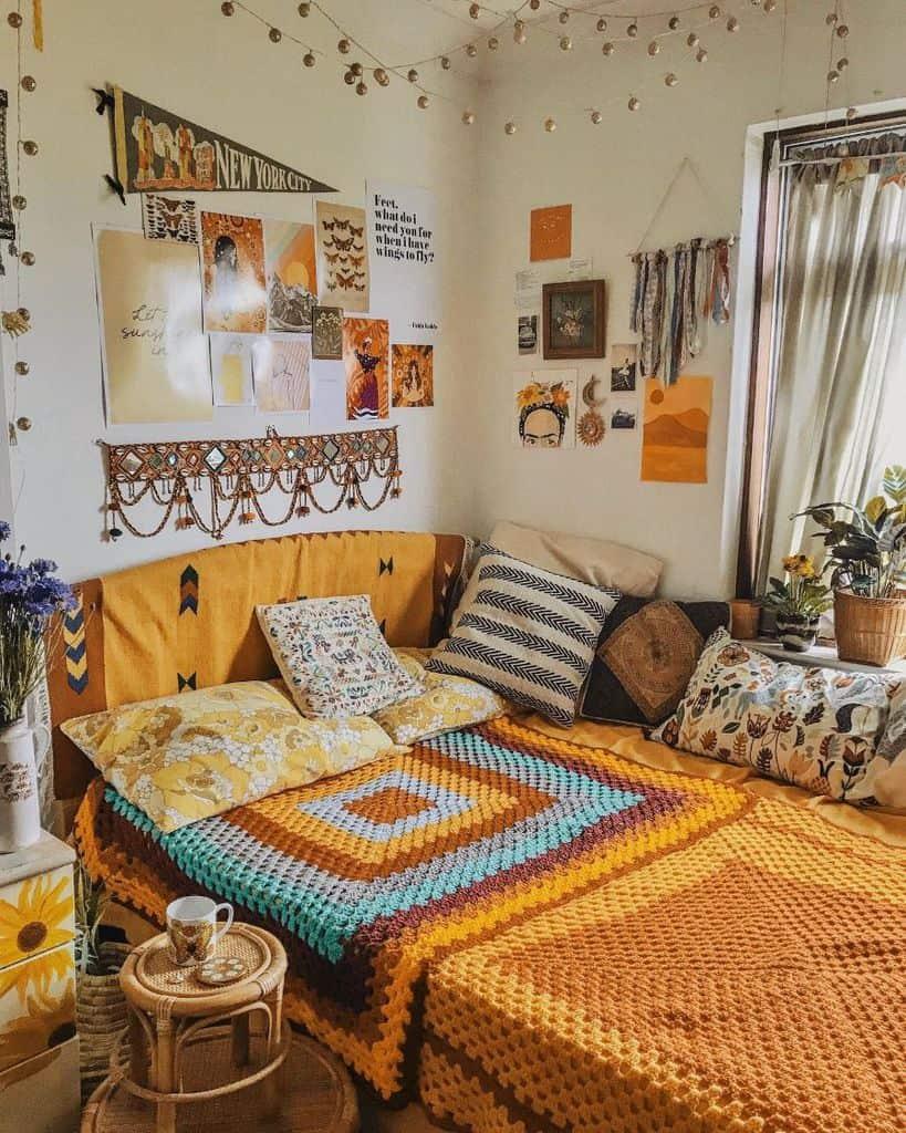 boho yellow bedroom ideas florencemayvintage