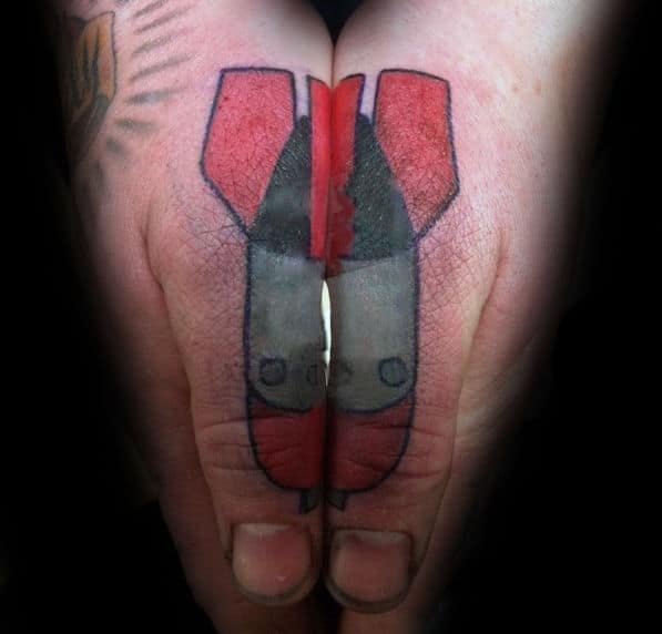 Bomb Thumb Tattoos For Guys