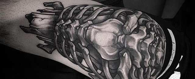 70 Bone Tattoo Designs For Men – Skeletal Ink Ideas