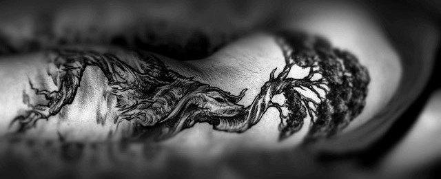 Bonsai Tree Tattoo Designs For Men