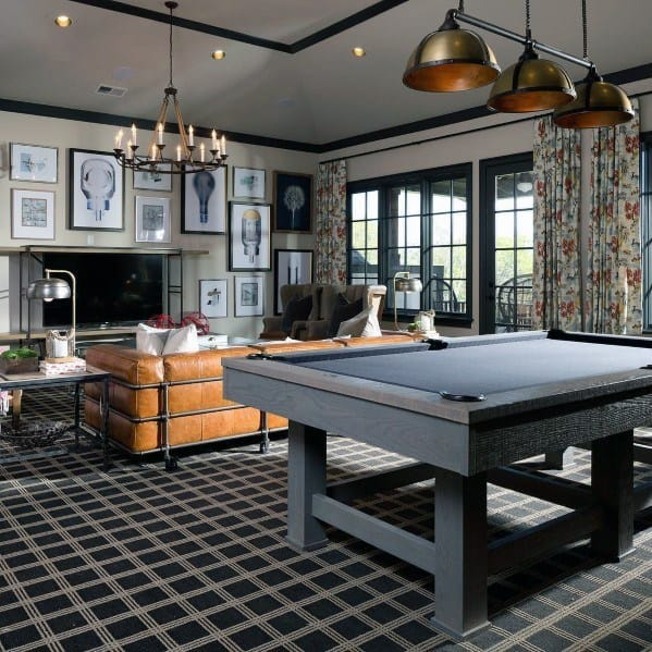 Bonus Room Home Ideas With Pool Table And Tv