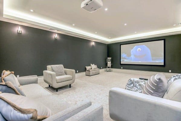 Bonus Room Interior Design Home Theater