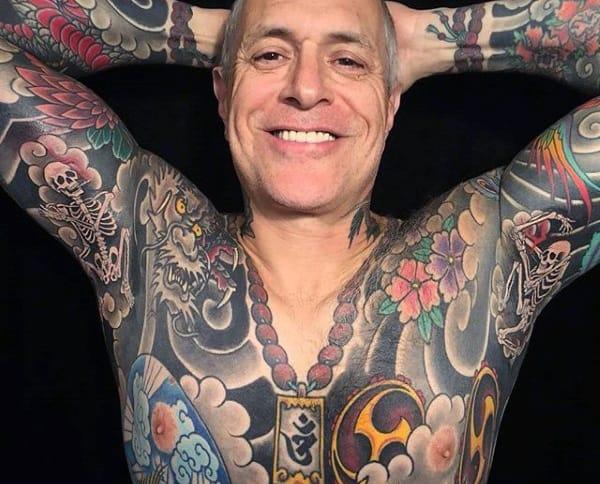 Bony Skeleton Tattoo Male Armpit