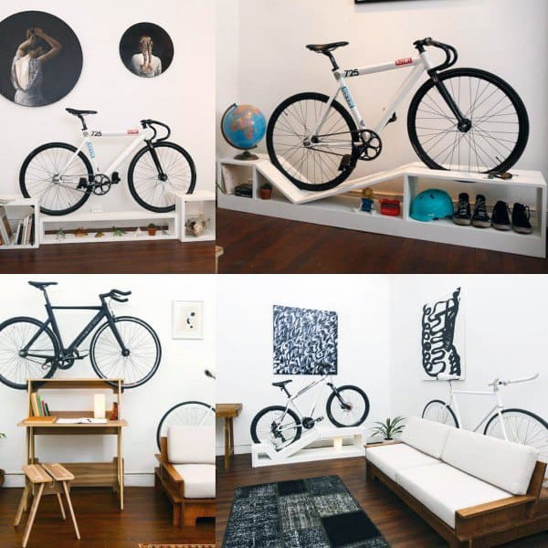 Bookcase Bicycle Storage Ideas