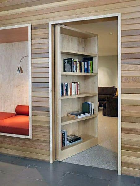 Bookcase Hidden Door Ideas Lounge Area