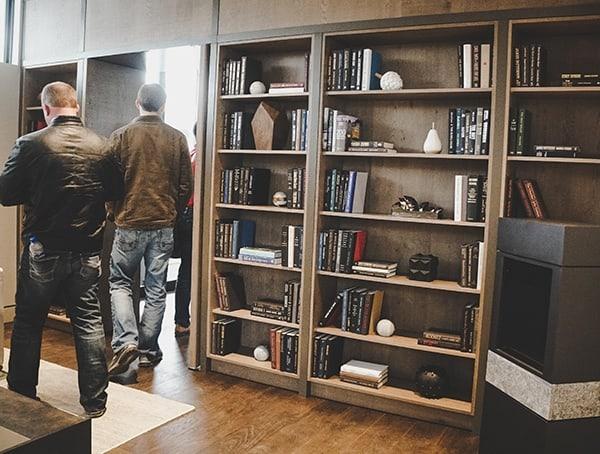 Bookcase With Hidden Door Open To Master Bedroom 2019 New American Remodel