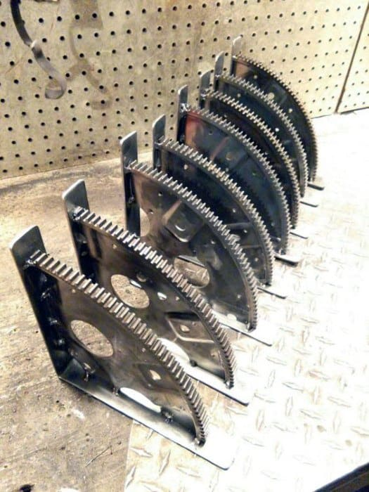 Bookends From Steel Sprockets Cheap Man Cave Ideas