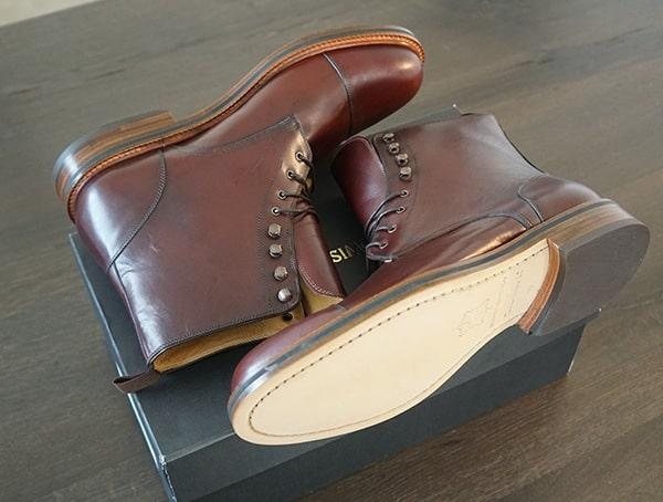 Bordeaux Beckett Simonon Dowler Cap Toe Mens Boots