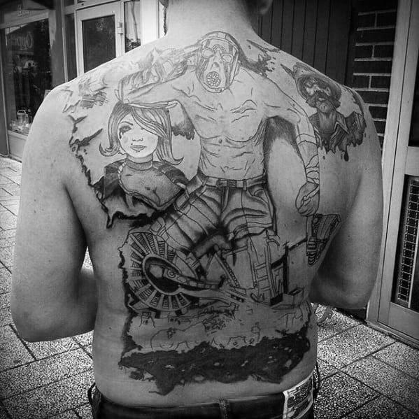 Borderlands Tattoo On Men