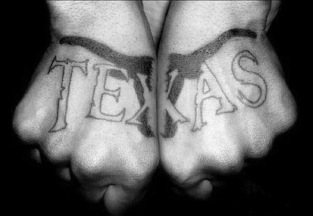 Both Hands Texas Mens Bull Tattoo Design Ideas