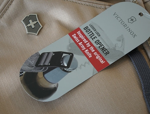 Bottle Opener Metal Hardware Tag Victorinox Deluxe Rolltop Backpack